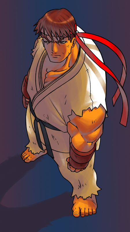 art, anime, drawing, street fighter, ryu